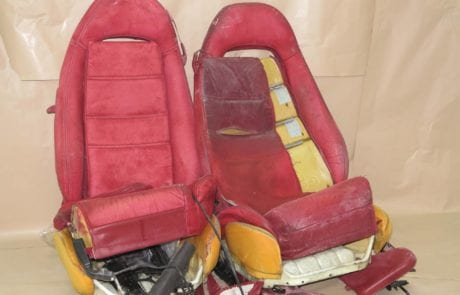 Leather seat, red leather seat restoration