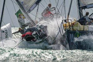 Two Duelling Yachts Battle it out
