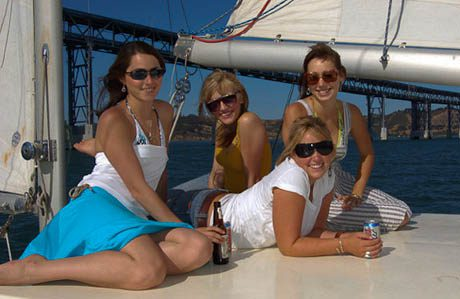 The Girls Relaxing on deck
