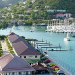 view of a harbour in the bvi with sailing boats
