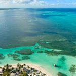 Ariel view of the Bahamas when sailing in January