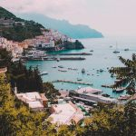 view of a town in the Amalfi coast