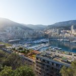 view of a marina and boats in the French Riviera