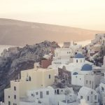 view over Santorini on a luxury Greece yacht charter