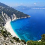 view of a beach in the ionian on the island of Kefalonia