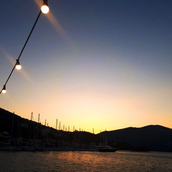 ionian sailing – day three – sunset in ithaca