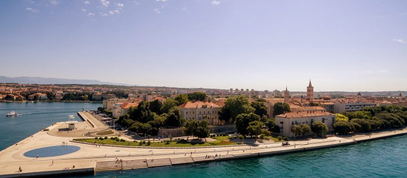 the city of Zadar and the walled city on a Zadar sailing itinerary